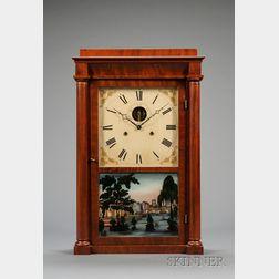 Empire Mahogany Shelf Clock by Silas B. Terry