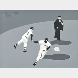 Mike Schacht (American, 1936-2001)      Ted William's Last Home Run