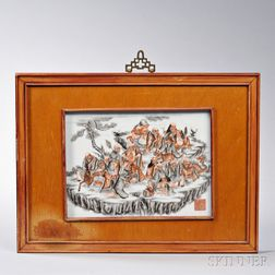 Enameled Encre de Chine Plaque