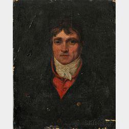 British School, 19th Century      Portrait of a Gentleman, Possibly Robert Emmett