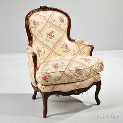 Louis XV Beechwood Bergere