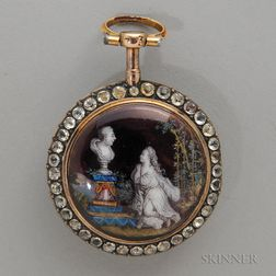 French Gold and Enamel Pocket Watch