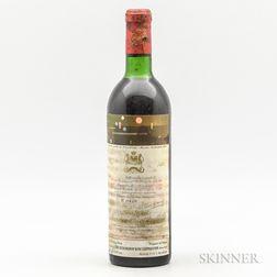 Chateau Mouton Rothschild 1971, 1 bottle