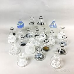 Fifty-seven Charlie Meaker Bottles and Four Oil Lamps