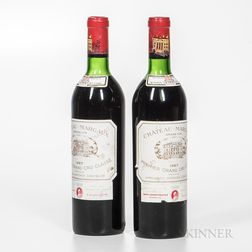 Chateau Margaux 1967, 2 bottles