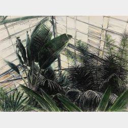 Michael Burton Mazur (American, 1935-2009)      Greenhouse
