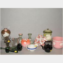 Twelve Pieces of Pottery and Glass