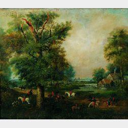 Manner of John Crome, the Elder (British, 1768-1821)      The Quorn Hunt