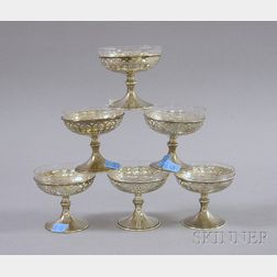 Set of Six Frank Whiting Sterling Silver Sherbet Cups