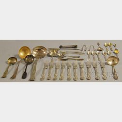 Large Group of Assorted Silver and Silver-plated Flatware