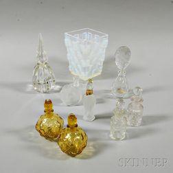 Sabino Glass Vase and Eight Perfumes