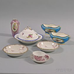 Nine English and Continental Porcelain Items