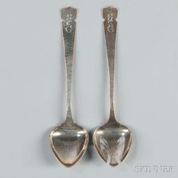 Two Arts & Crafts Kalo Silver Serving Pieces
