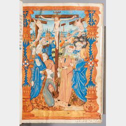 Book of Hours, Use of Rouen, Illuminated Latin Manuscript on Parchment.