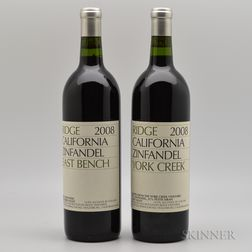 Ridge East Bench Zinfandel 2008, 2 bottles