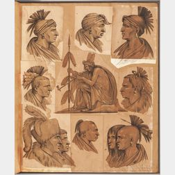Pettrich, Ferdinand (1798-1872) Portraits of Distinguished Indians from Several Tribes Who Visited Washington in 1837.