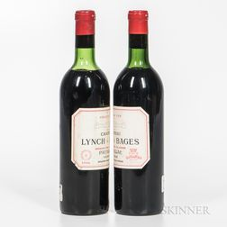 Chateau Lynch Bages 1966, 2 bottles