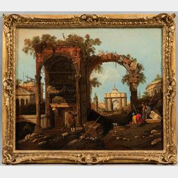 After Canaletto (Italian, 1697-1768)      Copy of Capriccio Ruins and Classic Buildings