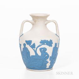 Modern Wedgwood Solid White Jasper Portland Vase
