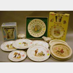 Sixteen Royal Doulton Porcelain Children's Series Ware Tableware Items