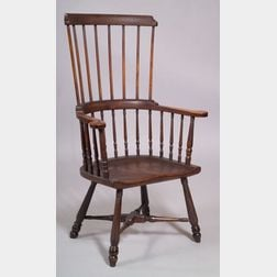 Windsor Maple and Hickory High-back Windsor Armchair