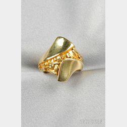 """18kt Gold """"Fragment"""" Ring, John Paul Miller"""