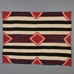 Classic Navajo Man's Wearing Blanket