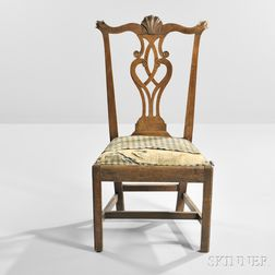Walnut Carved Side Chair