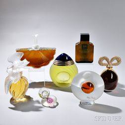 Seven Store Display Perfume Bottles