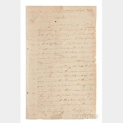 Washington, George (1732-1799) Circular Letter Signed, Philadelphia, 19 December 1781.