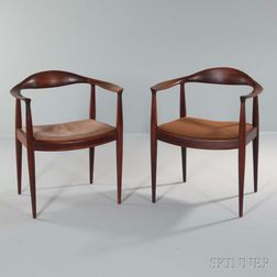 """Two Hans Wegner """"The"""" Chairs"""
