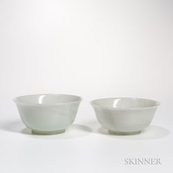 Two White Jade Bowls