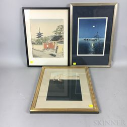 Four Framed Prints and Paintings