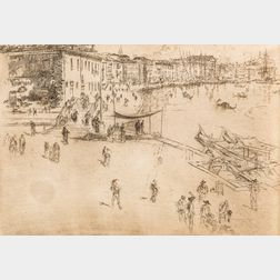 James Abbott McNeill Whistler (American, 1834-1903)      The Riva No. 2