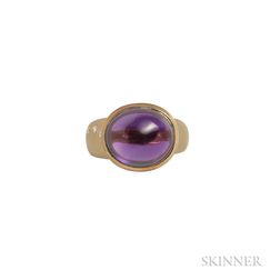 18kt Gold, Amethyst, and Diamond Ring, Susan Sadler, Retailed by Neiman Marcus