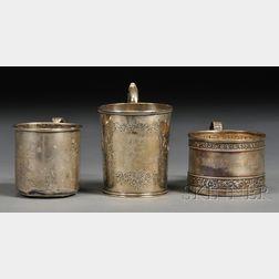 Three Silver Child's Mugs