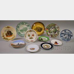 Eleven Ceramic Souvenir Plates