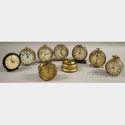 Group of Nine Alarm Clocks