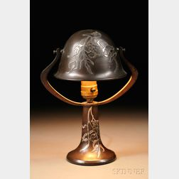 Small Metal Lamp Attributed to Heinz Art