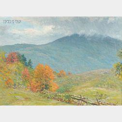 John Joseph Enneking (American, 1841-1916)      Early Autumn Trees