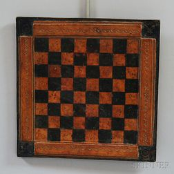Tooled Leather Game Board