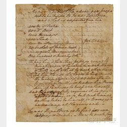 Washington, George (1732-1799) Autograph Document Signed, Philadelphia, 29 September 1794.