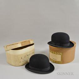 Two Black Derby Hats