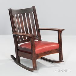 L. & J.G. Stickley Armed Rocking Chair