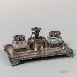 George III Sterling Silver Standish
