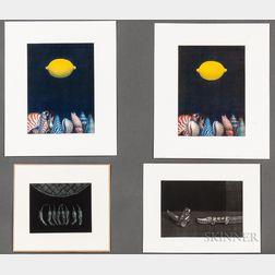 Nobuo Satoh (b. 1926), Four Mezzotint Prints