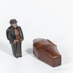Miniature Pornographic Man in a Coffin