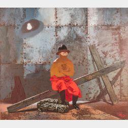 Zoya Frolova (Ukrainian/American, b. 1953)      Man with Cross