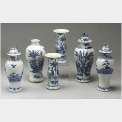 Six Pieces of Blue and White Porcelain