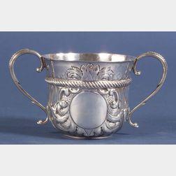Queen Anne Style Britannia Standard Silver Caudle Cup